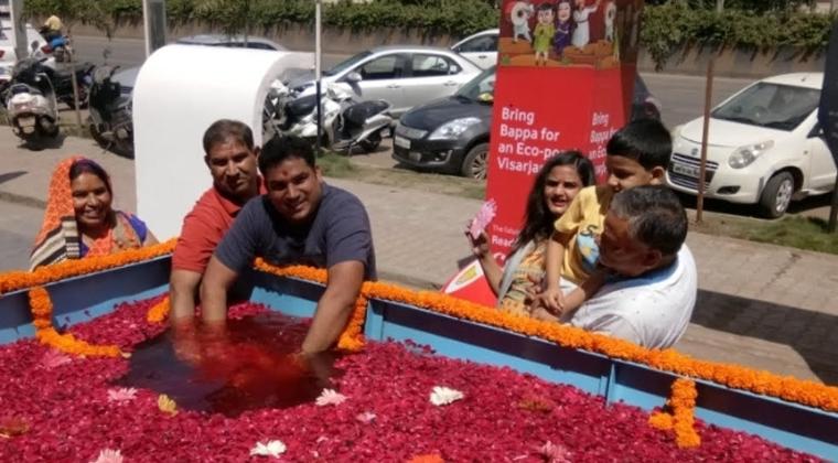 Ganpati Visarjan in Pune.