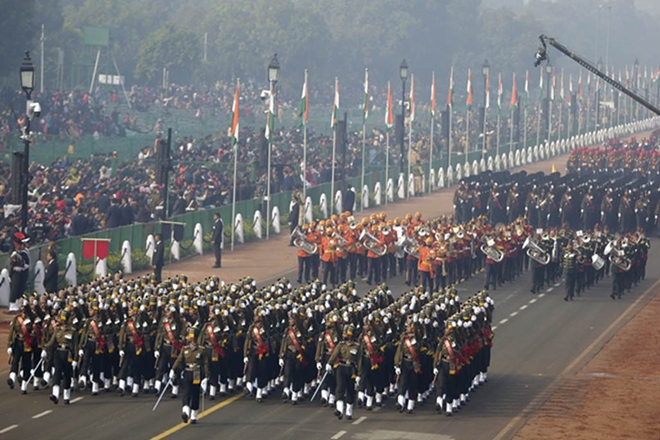 parade at Rajpath in Delhi