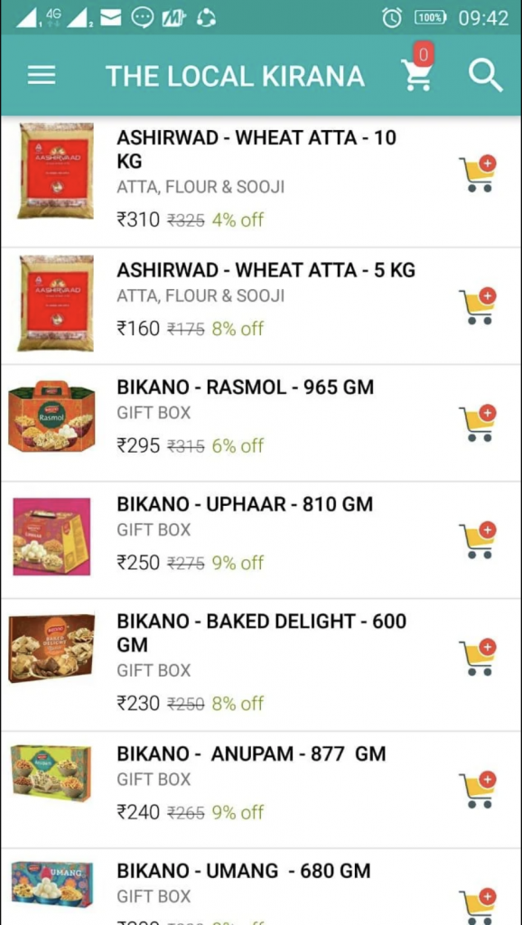 online grocery shops in Delhi