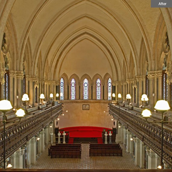 Convocation hall after restoration by Abha Narain