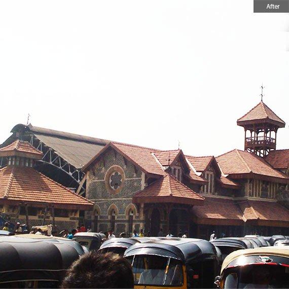 Bandra station after restoration by Abha Narain