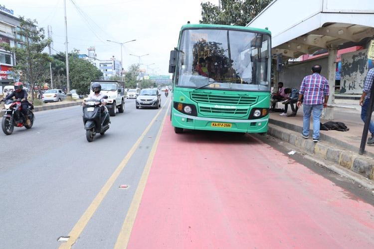 First bus lane in Bangalore