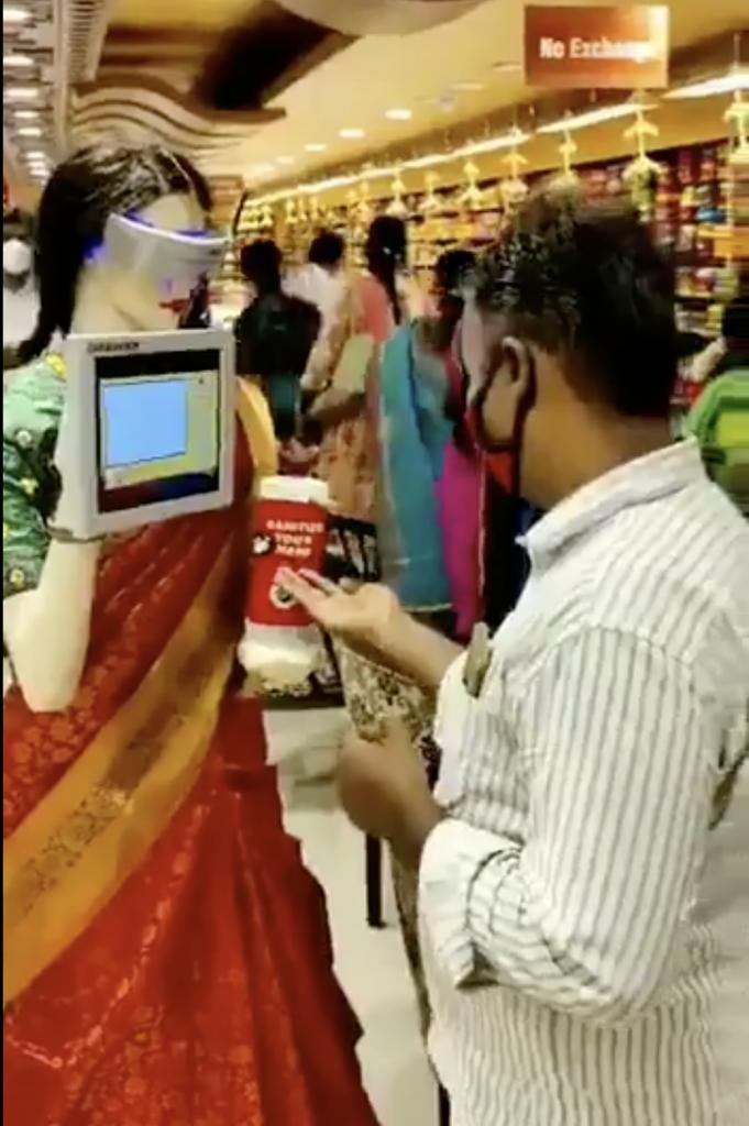 Saree clad robot